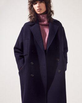 Manteau laine mi-long