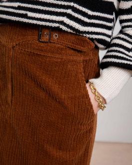 Frida  Jupe courte en velours côtelé