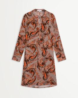 Caitlyn Robe chemise courte imprimé rétro