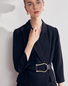 Clash  Robe courte blazer détails ceinture